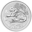 "Австралийский лунар ""Год тигра"" 1/2 oz 2010 года (серия II). Silver Coin Australian Lunar ""Year of the Tiger"" 1/2 oz 2010 (Series II)."